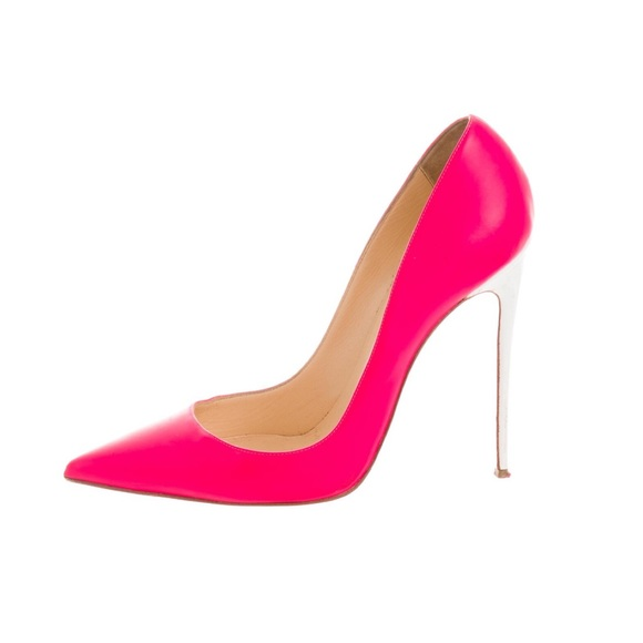 Christian Louboutin Shoes - ❗️SALE❗️Authentic Hot Pink White So Kate  Louboutin f06597b4619e